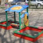 """Песочный дворик """"Мадагаскар"""". Размер: 4500х2500х1700"""